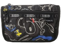 Le Sport Sac Travel Cosmetic Chalkboard Snoopy Cosmetic Case Brown