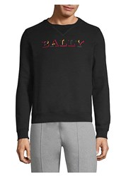 Bally Logo Cotton Sweatshirt Black