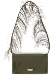 Nina Ricci Feather Handle Handbag Green