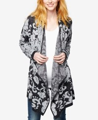 A Pea In The Pod Maternity Open Front Jacquard Cardigan Light Mid Gray