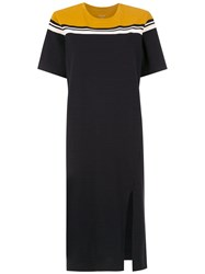 Osklen Color Block Dress Black