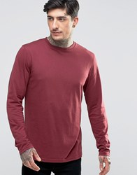 Another Influence Long Sleeve T Shirt Red