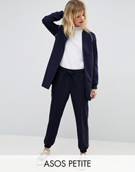 Asos Petite Formal Jogger With Cuff Detail Co Ord Navy