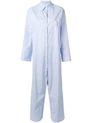 Maison Martin Margiela Mm6 Shirt Jumpsuit Blue