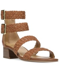 Franco Sarto Toma Double Ankle Strap Sandals Women's Shoes Whiskey