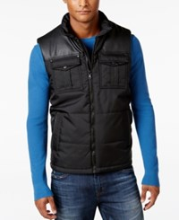 Sean John Men's Colorblocked Vest Black