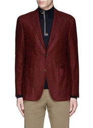 Canali 'Kei' Wool Blend Herringbone Soft Blazer Red