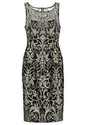 Adrianna Papell Cocktail Dress Party Dress Black Gold