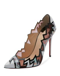 Christian Louboutin Explotek Mixed Media Zigzag Pump Multicolor Multi Color