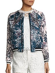 Parker Maverick Embroidered Floral Jacket Blue Multi