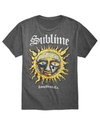 Fea Sublime Graphic Print T Shirt Charcoal