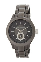 Karl Lagerfeld Unisex Karl Chain Bracelet Watch Metallic