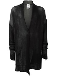 Lost And Found Rooms Shawl Lapel Ribbed Cardigan Black