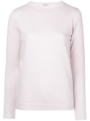 Liska Cashmere Crew Neck Sweater Pink And Purple