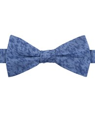 William Rast Silk Abstract Patterned Bowtie Blue