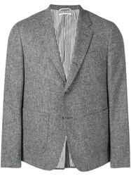 Thom Browne Solid Tweed Sack Sport Coat 60