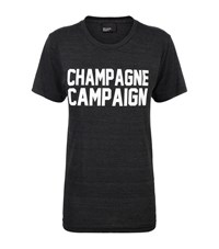 Private Party Champagne Campaign T Shirt Female Dark Grey