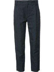 Vince Straight Cropped Trousers Blue
