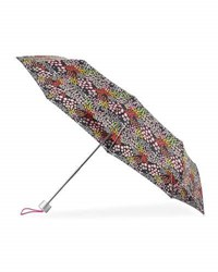 Tri Coastal Design Floral Print Manual Umbrella Black Multi