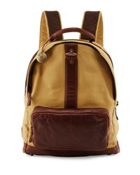 Will Leather Goods Felix Dome Canvas Backpack Brown