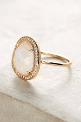 Anthropologie Adella Stone Halo Ring White