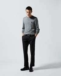 The Kooples Embroidered Light Grey Sweater In Wool Blend
