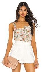 Rebecca Taylor Kamea Bow Tank In White. Snow Combo