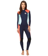 Rip Curl Dawn Patrol 3 2 Gb Back Zip St Navy Women's Wetsuits One Piece