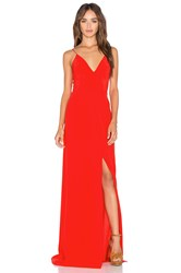 Amanda Uprichard Trixie Maxi Dress Red