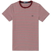 Fred Perry Fine Stripe Tee Red