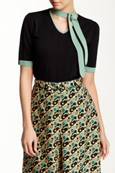 Anna Sui 40'S Knit Short Sleeved Sweater