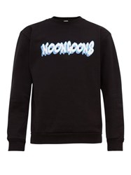 Noon Goons Logo Print Cotton Jersey Sweatshirt Black