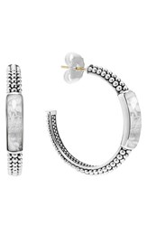Lagos Women's 'Maya' Caviar Hoop Earrings