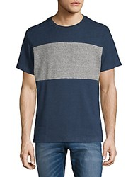 Hyden Yoo Contrast Colorblock Short Sleeve Tee Anthracite