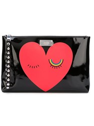 Sonia By Sonia Rykiel Heart Clutch Bag Black