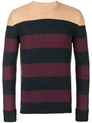 Nuur Striped Crewneck Jumper Blue
