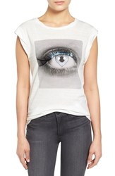 Women's Pam And Gela 'Frankie' Graphic Muscle Tee White