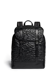 Neil Barrett 'Memphis' Quilted Camouflage Eco Leather Backpack Black