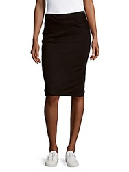 Kendall Kylie Knotted Pencil Skirt Black