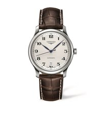 Longines Master Collection Leather Watch Unisex White