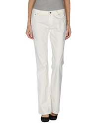 Pt0w Denim Pants White