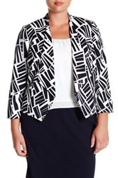 Nine West Printed Valeta Flyaway Jacket Plus Size Multi