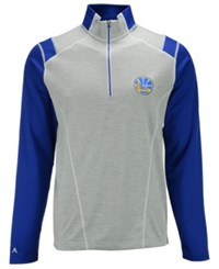 Antigua Men's Golden State Warriors Automatic Half Zip Pullover Gray Blue