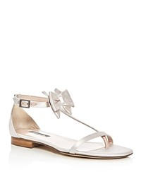 Sarah Jessica Parker Sjp By Tots Satin T Strap Bow Sandals Bloomingdale's Exclusive Moonstone Pink