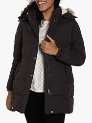 Fat Face Cumbria Long Puffer Jacket Charcoal