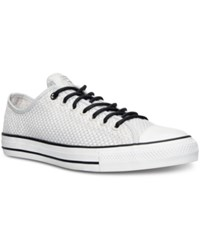Converse Men's Chuck Taylor All Star Ox Amp Cloth Casual Sneakers Mouse White Black