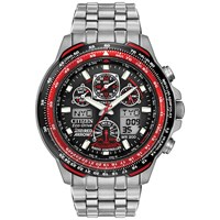 Citizen Jy0110 55E Men's Red Arrows Eco Drive Skyhawk At Chronograph Bracelet Strap Watch Silver Black