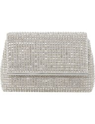 Dune Everlina Diamante Embellished Clutch Silver Diamantes