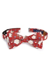 The Tie Bar Hodgkiss Flowers Linen Bow Red
