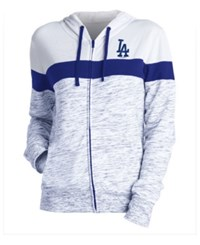 5Th And Ocean Women's Los Angeles Dodgers Space Dye Hoodie Royalblue White